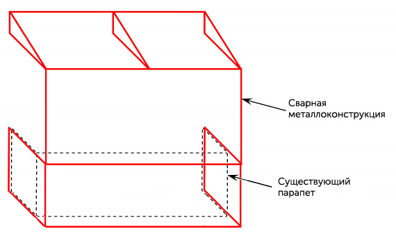 Балкон с выносом по полу