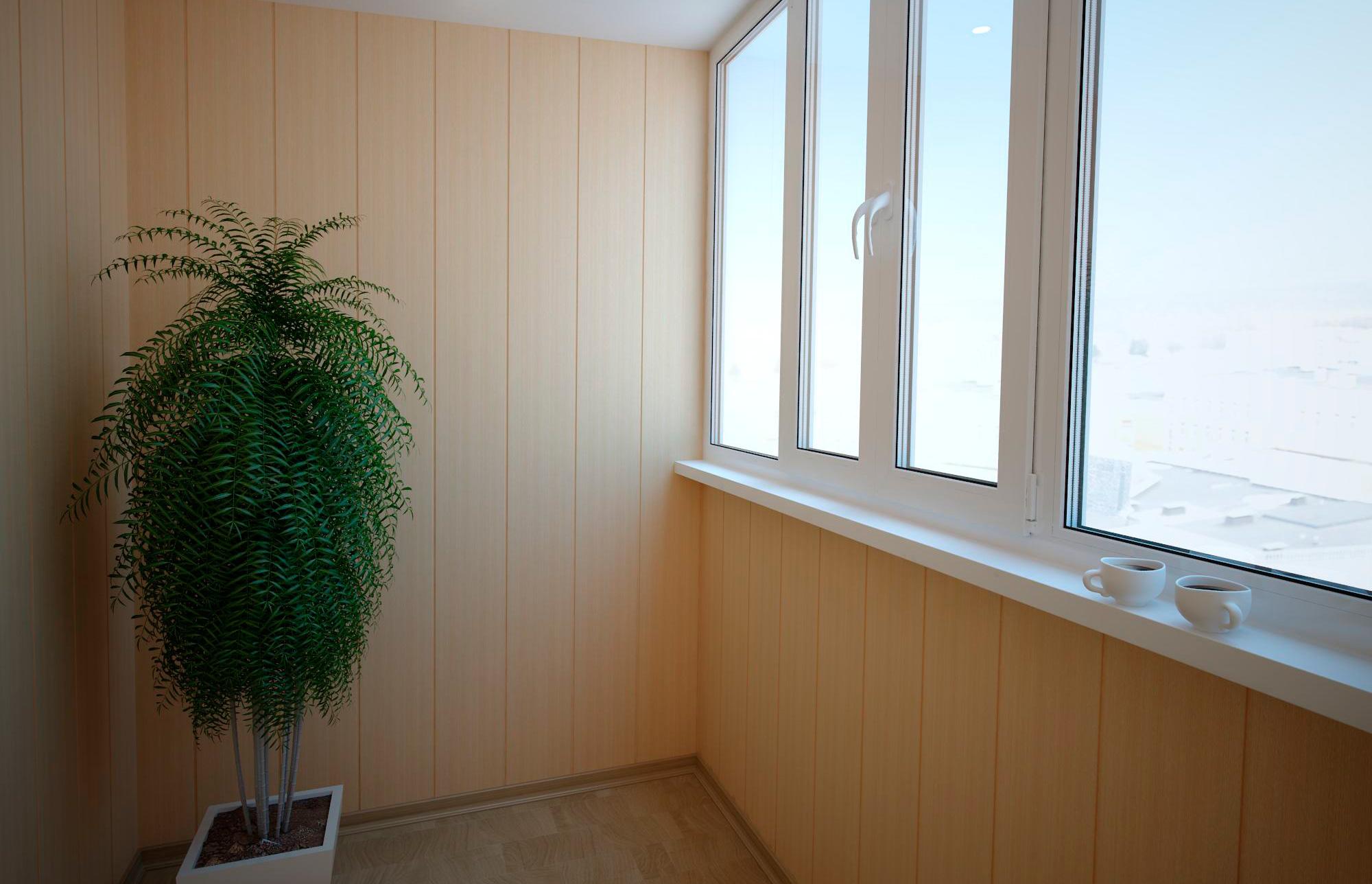 Отделка стен балконов и лоджий в москве.